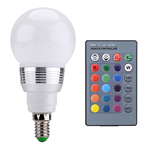 Zogin 3W E14 RGB Lampadina LED Bulbo 16 Colori Variabile con Telecomando IR