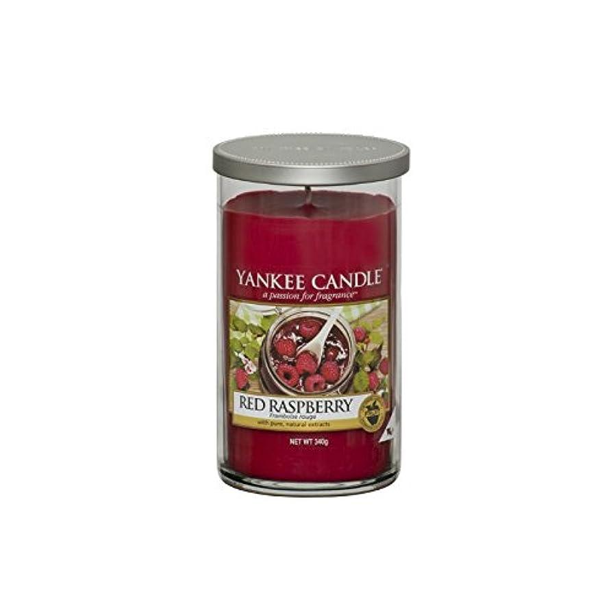 革新散らすインサートYankee Candles Medium Pillar Candle - Red Raspberry (Pack of 6) - ヤンキーキャンドルメディアピラーキャンドル - レッドラズベリー (x6) [並行輸入品]