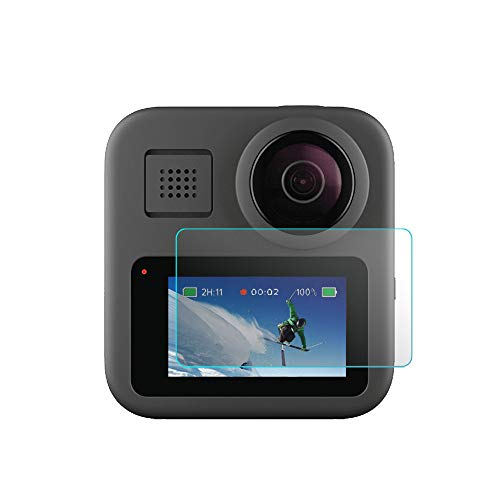 HSKB cameralens beschermhoes 9H verbeterde gehard glas folie zonder luchtbellen zelfanti-vingerafdrukken compatibel met Go Pro Max 360 camera protector