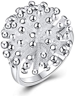 Fireworks Global Style 18K Silver Plated Ring for Women