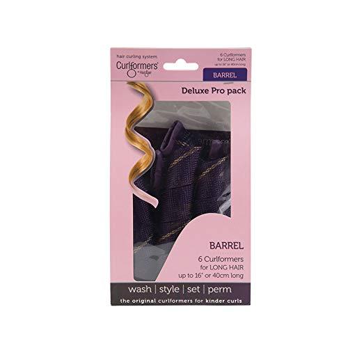 Curlformers Deluxe - Lockenwickler für mittellanges Haar bis zu einer Länge von 40 cm - für große Locken - Zusatzpackung - ohne Hitze - Stylinghaken nicht enthalten - 6 Stück