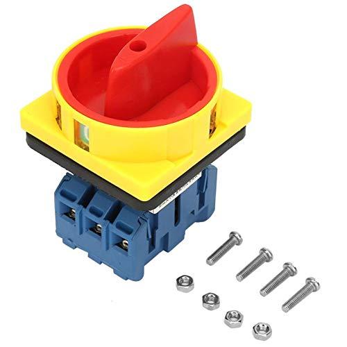 Interruptor disyuntor de carga, interruptor disyuntor de carga pequeña de leva giratoria 3P 32A, sin corrosión para productos químicos textiles(32A)