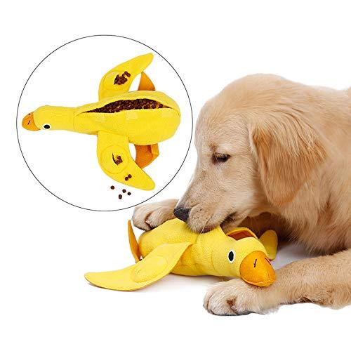 Hundespielzeug Entenform Langsame Zuführung, Quietschspielzeug Hund Plüsch Dog Toy Ente Hundespielzeug Quitschend Schadstofffrei/Interaktives Spielzeug/Quitsch Spielzeug/Intelligenz Spielzeug für Hund
