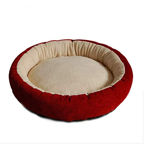 xiaofeng Donut Styling Cat Litter Kennel Pet Mat Round (Color : Azul, Size : Small)