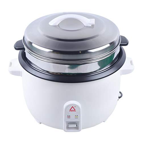 13L Antihaft Reiskocher mit Dämpfeinsatz Elektrischer Dampfgarer Topf Aluminiumlegierung Weiß 1300W-4500W für Kochen Reis, Kochen Brei, Suppe, Gemüse Dämpfen