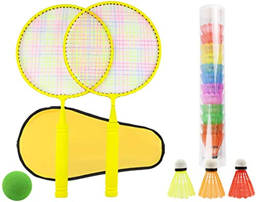 Panelk Deportes al Aire Libre de los niños de Raqueta, la Raqueta de bádminton Juguetes y Bola de Tenis de los niños 2 en 1 Grupo,Yellow