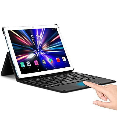 Tablet 10 Pollici da Gioco - TOSCIDO T50 Android 10.0, Octa Core 2.0 GHz,128 GB, 6 GB di RAM, 1920 * 1200 FHD,Fotocamera da 13 MP + 5 MP,Doppia SIM 4G LTE e Wi-Fi 5G, GPS, Buletooth 5.0,Face ID - Blu