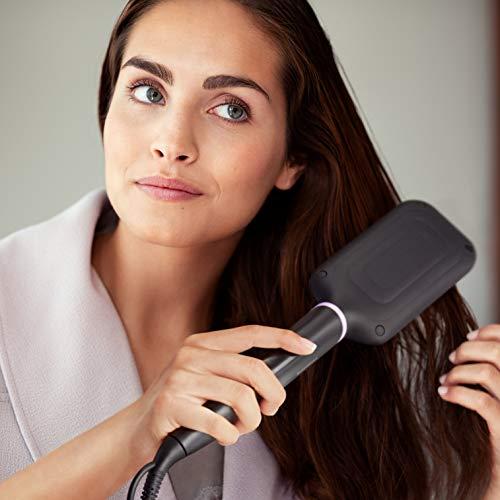 Philips BHH880/00 - Cepillo alisador de pelo, cerámico para alisar con calor, moldeador de pelo, 2 posiciones de temperatura (170 °C, 200 °C) y desconexión automática