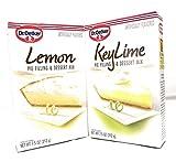 Dr. Oetker Lemon and Key Lime Pie Filling and Dessert Mixes Bundle (one each)