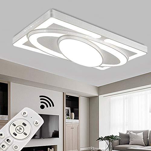 JINPIKER Deckenleuchte 90W Dimmbar Raumschiff LED Panel Deckenlampe Wohnzimmer Schlafzimmer Energieeinsparung Innen-Beleuchtung Deckenleuchten (90W Dimmbar)