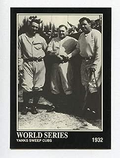 "Babe Ruth ベーブ・ルース 1992 Megacards #39 Lou Gehrig, Joe McCarthy ワールドシリーズ (ヤンキース) 1932年"""