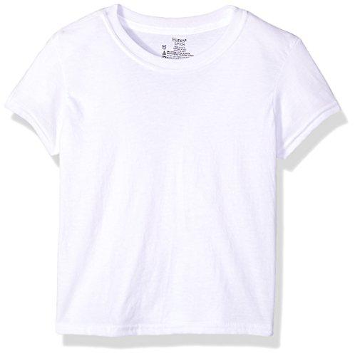 Hanes Boys' Big Ultimate Cool Comfort Crewneck Undershirt 5-Pack, White, Medium