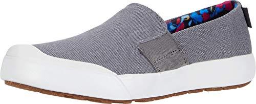 KEEN Women's Elena Slip-ON Sneaker, Grey/White, 6