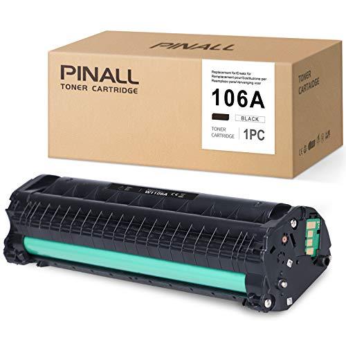 (Con Chip) PINALL Compatible HP 106A W1106A Toner per HP laserjet MFP 135A MFP135W MFP 135R MFP 137 FNW HP Laser 107A 107W 107R (1 nero)
