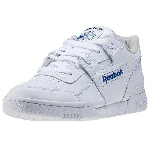 Reebok Herren Workout Plus Low-Top, Weiß (White/Royal), 42 EU