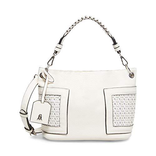 Steve Madden womens Bucket Bag, White, 9 L x 8 H 5 W US