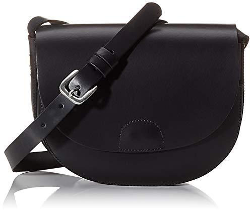 PIECES Damen Pchilal Leather Cross Body Umhängetasche, Schwarz (Black), 3x16,5x20,5 cm