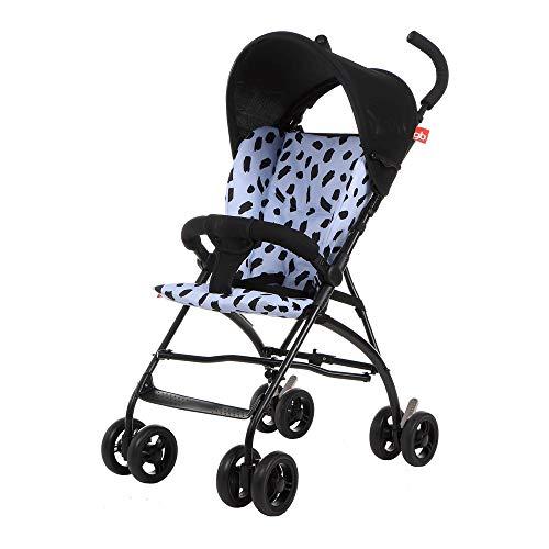 Landau Chariot Multifonctionnel bébé Poussette légère Amortisseur Parapluie Chariot bébé Portable Voyage Baby Doll Trolley ( Color : Blue )