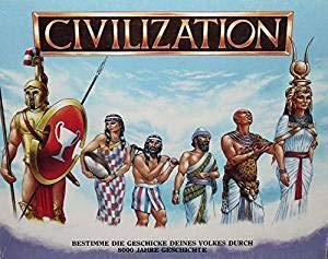 Civilization Brettspiel Piatnik 1988 Deutsche Ausführung. Top Ten Spielerarität