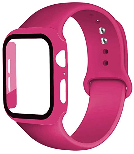 Correa + estuche para Apple Watch Band 44mm 40mm iWatch band 42mm 38mm parachoques de silicona + pulsera para apple watch series 4 3 5 SE 6