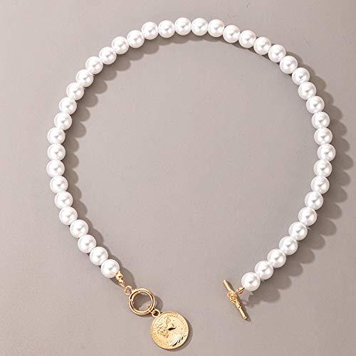 XKMY Luxury Pearl Stone Shell Pendant Necklace for Women Summer Star Heart Chain Choker Necklace Bohemian Jewelry Gift bracelets for women (Metal Color : 16088)