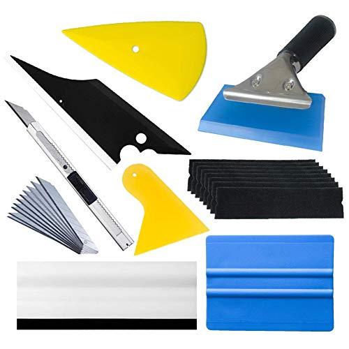 ACAMPTAR Professionele vinyl wrap kit raam gereedschap voor voertuig folie inclusief vilt schraper, schraper, lemmet