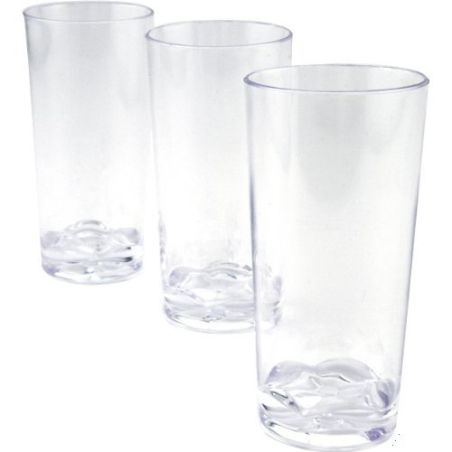 Polar Ice Kunststoff Gerade Wand Shooter Gläser, 1.75-ounce, transparent, Amtsheftung