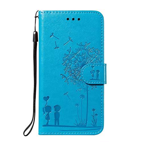 Lederhülle für iPhone SE 2020, iPhone 7/8 Flip Hülle Wallet Case Handyhülle PU Leder Tasche Case Kartensteckplätzen Schutzhülle für iPhone SE 2020, iPhone 7/8 Handy Hüllen Blau