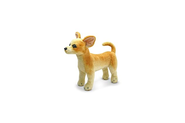 Amazon Com Melissa Doug Chihuahua Dog Lifelike Stuffed Animal