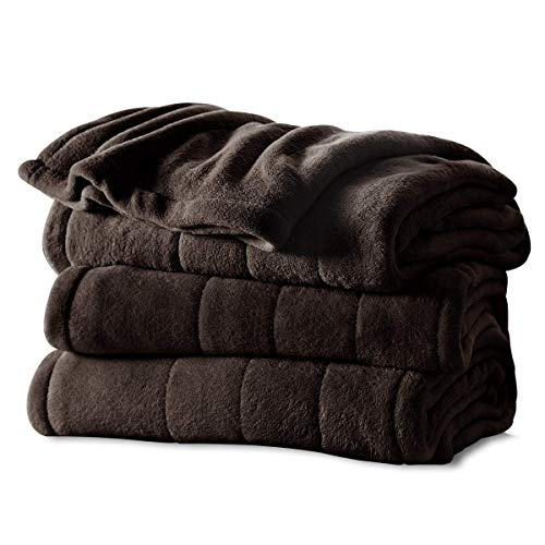 Sunbeam Heated Blanket | Microplush, 10 Heat Settings, Walnut, Full - BSM9KFS-R470-16A00