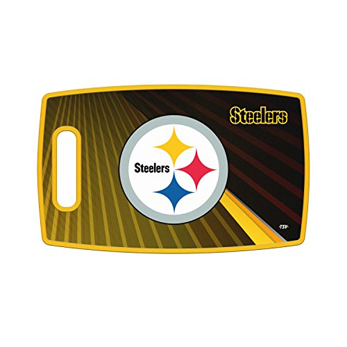 Sports Vault NFL Pittsburgh Steelers Large Cutting Board, 14.5