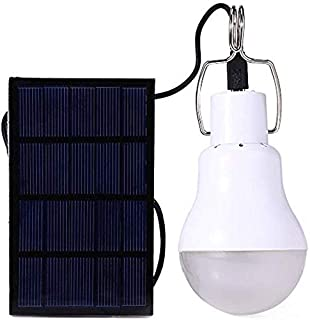 JOYWAY-Blue carbon Solar Light Bulb Portable LED Light Solar Panel Powered Rechargeable Lights for Home Shed Barn Indoor O...