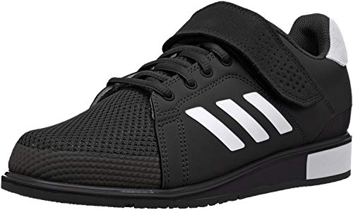adidas Performance Men's Power Perfect III. Cross Trainer, Black/White/Matte Gold, 12.5 M US