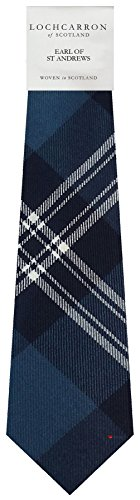 I Luv Ltd Gents Neck Tie Earl of St Andrews Tartan Lightweight Scottish Clan Tie