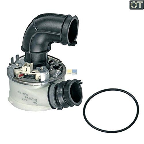 Heizelement Durchlauferhitzer System 1960/1800W Geschirrspüler Spülmaschine Original Indesit Ariston Scholtes C00257904 Whirlpool 482000023049 für Umwälzpumpe C00291855