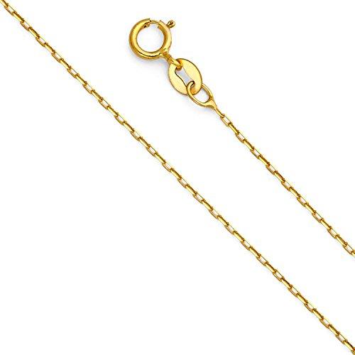 18 Karat / 750 Gold Oval Ankerkette Gelbgold - 1.30 mm Breit - verschiedene Längen (45)