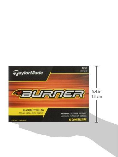 TaylorMade 2017 Burner Golf Balls Yellow Golf Ball, Yellow (One Dozen)