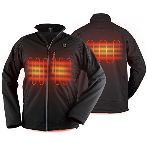 PROSmart Veste Chauffante pour Homme Manteau Imperméable avec Batterie 12v (L)