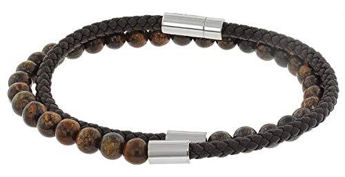 BOSS Herren-Armband Brody Dunkelbraun 50424644-201-M 19 cm