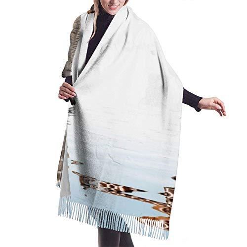 Yuanmeiju Damenmode Langer Schal Cashmere Feel Fringed Scarf,Big Shawl Winter Thick Warm Scarf Wrap Shawl 77' X...