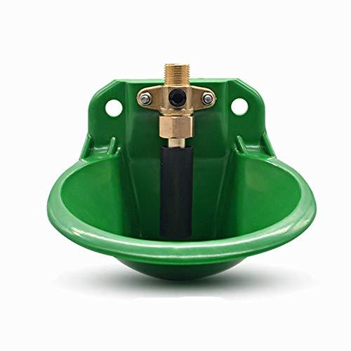 MUJING Cuenco de riego de plástico automático con válvula de Agua/válvula de Flotador de Cobre para Herramienta de abrevadero Animal de Oveja