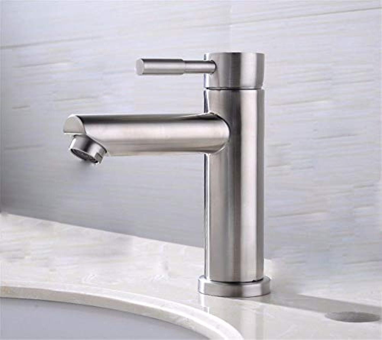 AOEIY Wasserhahn Küchen Mischbatterie Einlochkupfer aus gebürstetem hei und kalt A Waschtischarmaturen Mixer Spültisch Armatur Bad Spülbecken Spültischbatterie badezimmer Küchenarmatur