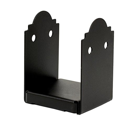 Simpson Strong Tie Simpson Outdoor Accents APB66R 6 in. x 6-inch RoughZMAX Galvanized Steel Black Powder-Coat Post Base (1-Pack)