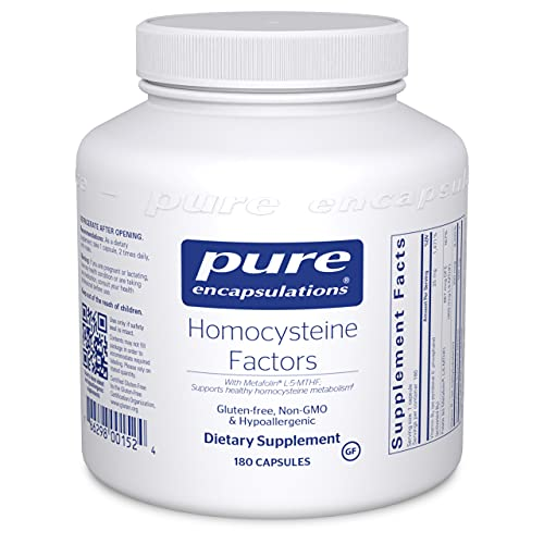 Pure Encapsulations Homocysteine Factors | Supplement to Support Normal Homocysteine Levels and Cardiovascular Health* | 180 Capsules