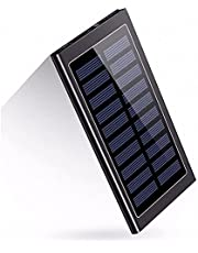 Beavers21 Office Premium Solar Powerbank 20 000 mAh, ultracienki, akumulator litowo-polimerowy, 2 wyjścia USB, szybkie ładowanie, wysoka pojemność, kompatybilny ze wszystkimi smartfonami, tabletami i innymi ładowarkami