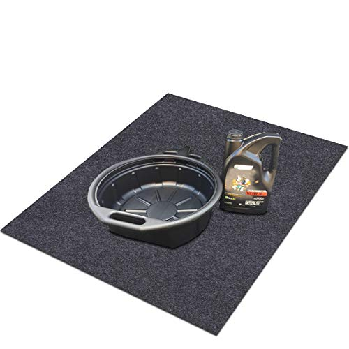 """Sensko Oil Spill Mat,Premium Absorbent Mat – Reusable,Oil Pad Contains Liquids,Protects Garage Floor or car Trunk,Absorb Materials,Anti-Slip and Waterproof Backing,Washable (Oil Spill Mat 36"""" x 36"""")"""