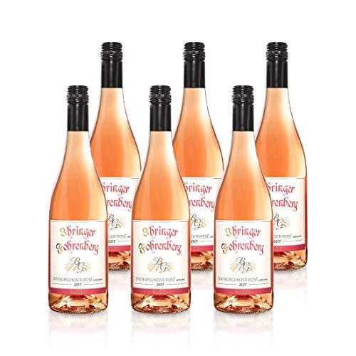 Spätburgunder Rosé halbtrocken - Ihringer Fohrenberg 2017 | Roséwein aus Deutschland | WBK Glatt | Fruchtig & Spritzig im Geschmack (6x 0,75l)