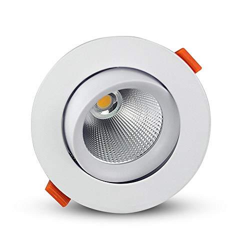 HviLit 7W 12W 18W 24W runde LED Einbauleuchte Winkel einstellbar Flush Mounted Spotlight Gewerbe Innen Rotating LED Deckenverkleidung-Licht Embedded Energiespar COB-Punkt-Lampe