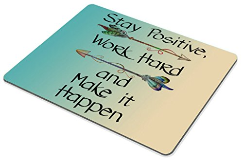 Smooffly Gaming Mouse Pad Custom,Stay Positive Work Hard and Make It Happen Motivational Sign Inspirational Quote Mouse Pad Motivational Quotes for Work Photo #2