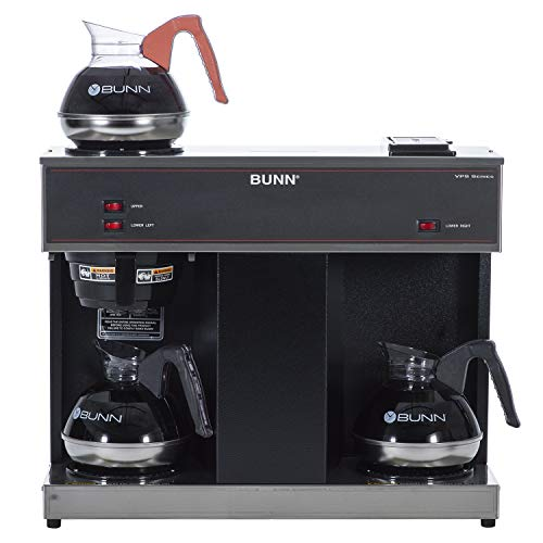 BUNN 04275.0031 VPS 12-Cup Pourover Commercial Coffee Brewer, with 3 Warming Stations (120V/60/1PH)